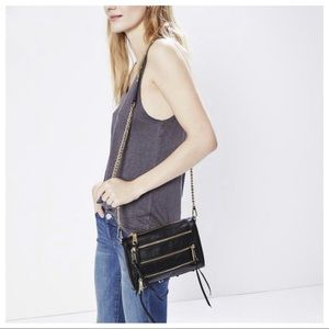 Rebecca Minkoff Panama 5 Zip Leather Crossbody Bag